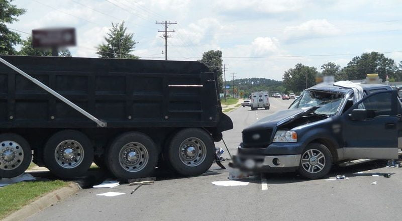Car and Truck Accident with Personal Injury