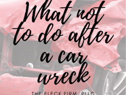 What not to do after wreck image