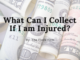 What Can I Collect If I am Injured