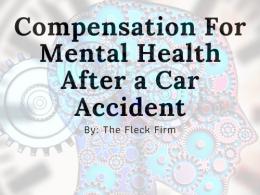 Mental Health Compensation Car Accident