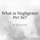 personal injury negligence per se image